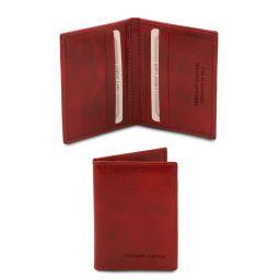 Elégant porte cartes en cuir Rouge TL142063