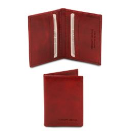 Esclusivo portacarte in pelle Rosso TL142063