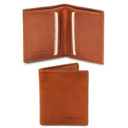 Exclusive 2 fold leather wallet for men Honey TL142064