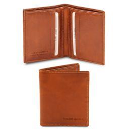 Elégant portefeuille en cuir pour homme 2 volets Miel TL142064