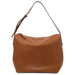 TL Bag Soft leather hobo bag Cognac TL142081