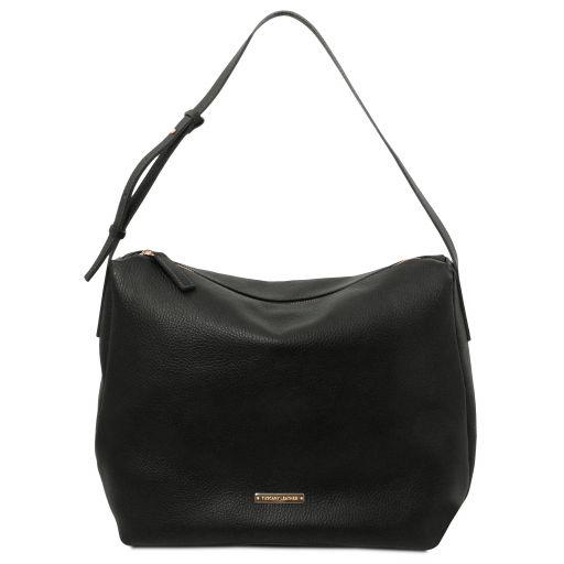 TL Bag Soft leather hobo bag Black TL142081