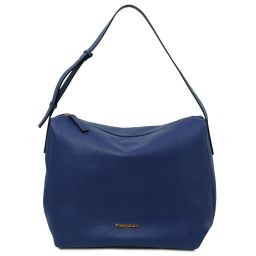 TL Bag Bolso hobo en piel suave Azul oscuro TL142081