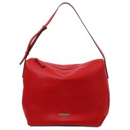 TL Bag Soft leather hobo bag Lipstick Red TL142081