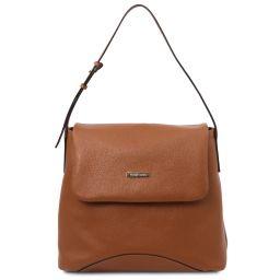 TL Bag Borsa al hombro en piel suave Cognac TL142082