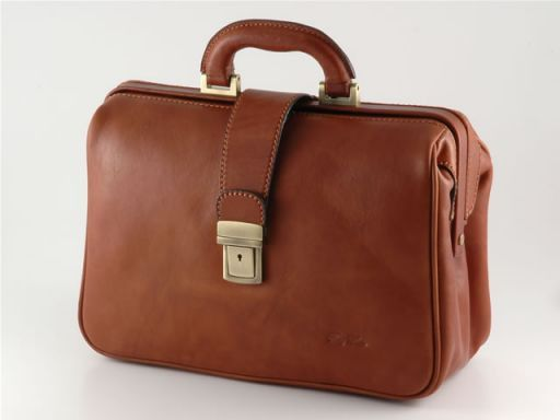 Botticelli Leather doctor case Brown TL140327