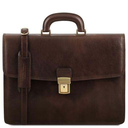 Amalfi Portafolio en piel con 1 compartimento Marrón oscuro TL141351