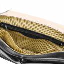 Mantova Cartable TL SMART multi compartiments en cuir avec rabat Noir TL142068