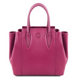 Tulipan Leather handbag Fuchsia TL141727