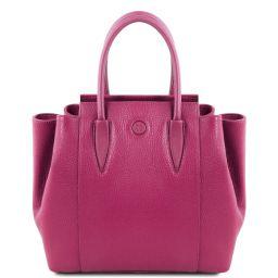 Tulipan Leather handbag Фуксия TL141727