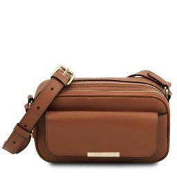 TL Bag Bolso cámara en piel Cognac TL142084