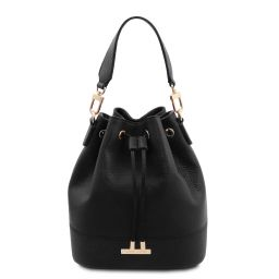 TL Bag Sac secchiello pour femme en cuir Noir TL142083