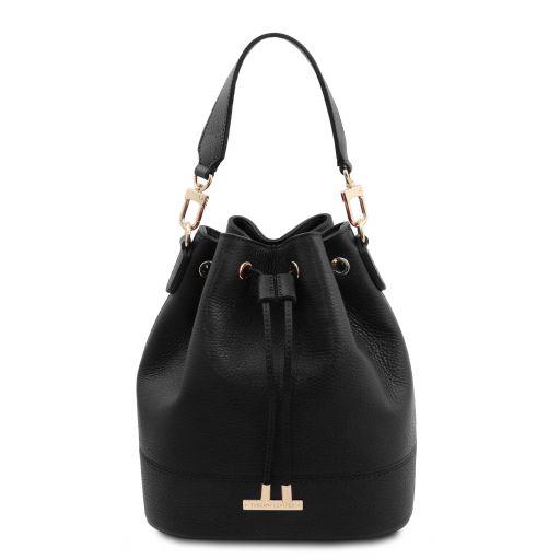 TL Bag Leather bucket bag Black TL142083