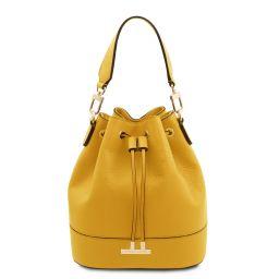 TL Bag Borsa secchiello da donna in pelle Giallo TL142083