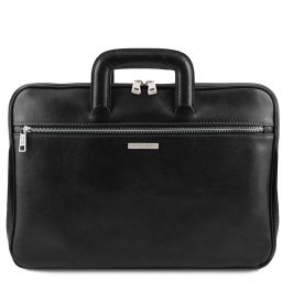 Caserta Document Leather briefcase Black TL142070