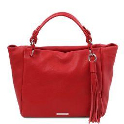 TL Bag Bolso shopping en piel suave Rojo Lipstick TL142048