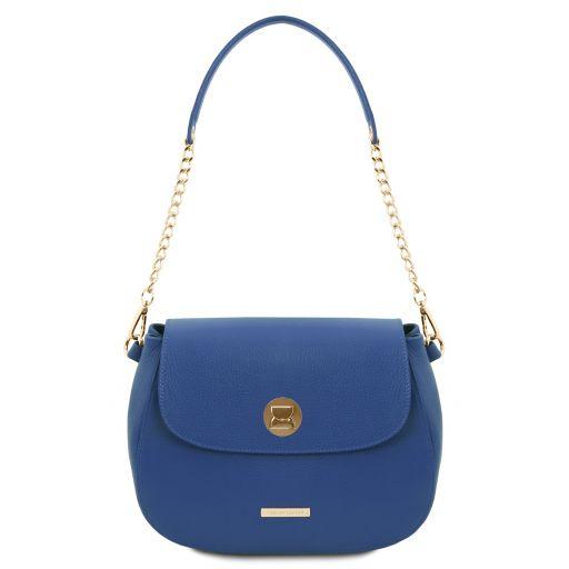 Fresia Leather shoulder bag Blue TL141956