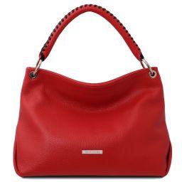 TL Bag Borsa a mano in pelle morbida Rosso Lipstick TL142087