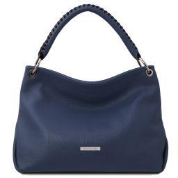 TL Bag Bolso a mano en piel suave Azul oscuro TL142087