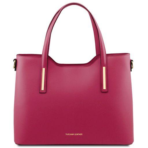 Olimpia Shopping Tasche aus Leder Fucsia TL141412