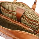 Matera Leather multi compartment briefcase Natural TL142080