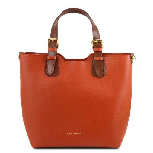 TL Bag Borsa shopping in pelle Saffiano Brandy TL141696