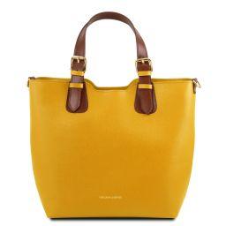 TL Bag Bolso shopping en piel Saffiano Amarillo TL141696