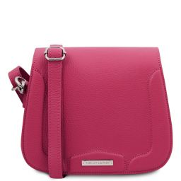 Jasmine Leather shoulder bag Fuchsia TL141968