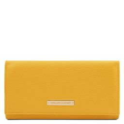 Nefti Exclusive soft leather wallet for women Yellow TL142053