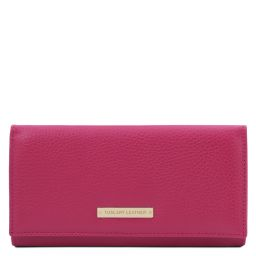Nefti Exclusive soft leather wallet for women Fuchsia TL142053