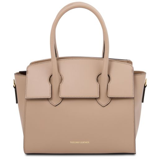 Brigid Leather handbag Champagne TL141943