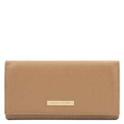 Nefti Elegante cartera de señora en piel suave Champagne TL142053