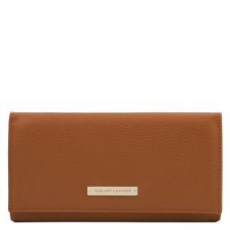 Nefti Exclusive soft leather wallet for women Cognac TL142053