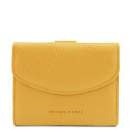 Calliope Exclusive 3 fold leather wallet for women with coin pocket Yellow TL142058