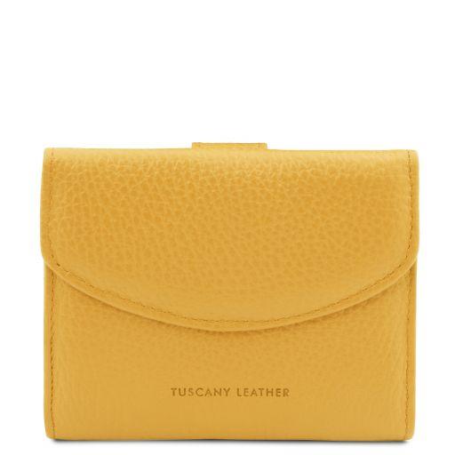 Calliope Exklusive Damenbrieftasche aus Leder mit 3 Scheinfächern und Münzfach Gelb TL142058