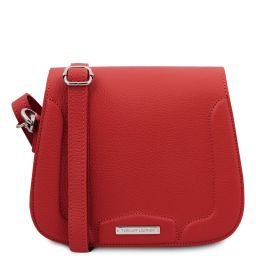 Jasmine Leather shoulder bag Lipstick Red TL141968