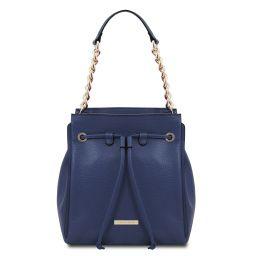 TL Bag Borsa secchiello in pelle morbida Blu scuro TL142134
