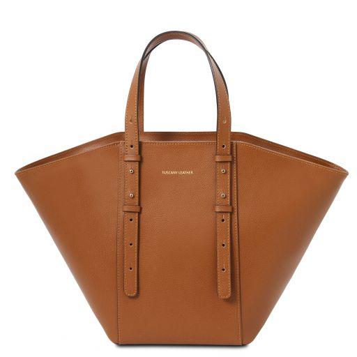 TL Bag Leather tote Cognac TL142123