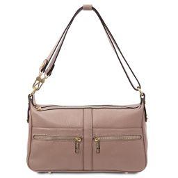 TL Bag Leather shoulder bag Nude TL142133