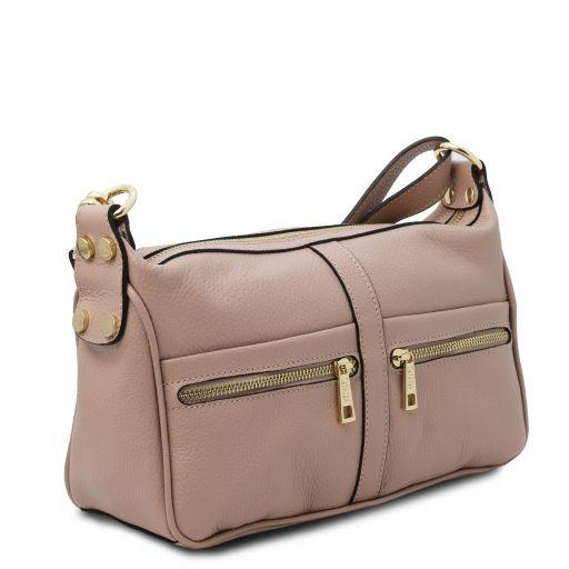 TL Bag Mini Borsa in Pelle Effetto Cocco Nude TL141890