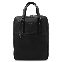 TL Bag 2 Compartments soft leather backpack Black TL142136