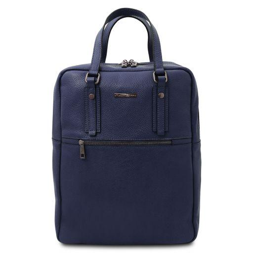 TL Bag Mochila en piel suave con 2 compartimientos Azul oscuro TL142136