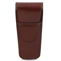 Exclusive leather 2 slots pen/watch holder Brown TL142130