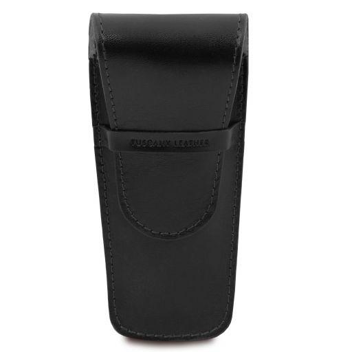 Elegante porta penne 2 posti/porta orologio in pelle Nero TL142130
