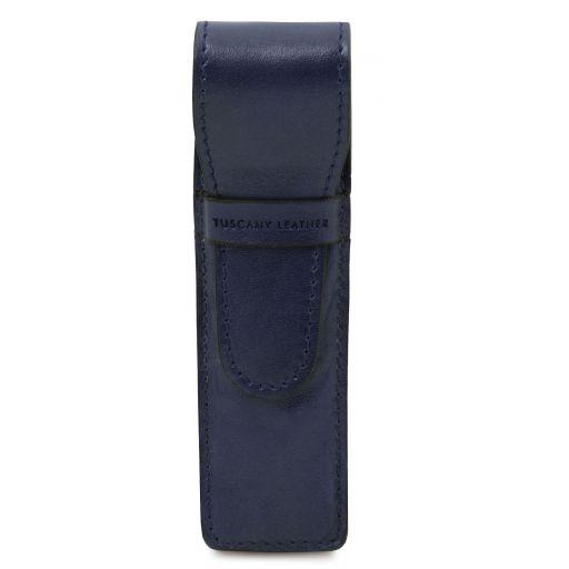 Exclusive leather pen holder Dark Blue TL142131