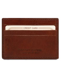 Эксклюзивный кожаный чехол для карт и визиток Коричневый TL141011