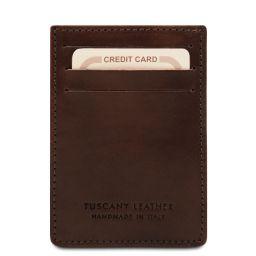 Esclusivo portacarte di credito in pelle verticale Testa di Moro TL140806
