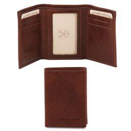 Эксклюзивный кожаный чехол для карт и визиток Коричневый TL140801