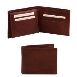 Elegante cartera de señor en piel Marrón TL140760