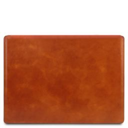 Sous-main de bureau en cuir avec rabat Miel TL142054
